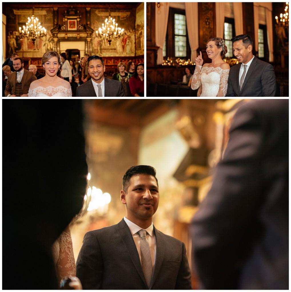 Huwelijksfotografie Antwerpen stadshuis ceremonie ja woord