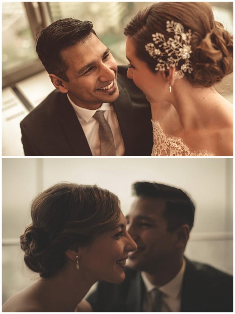 Huwelijksfotografie Antwerpen KBC toren fotoshoot bruidspaar