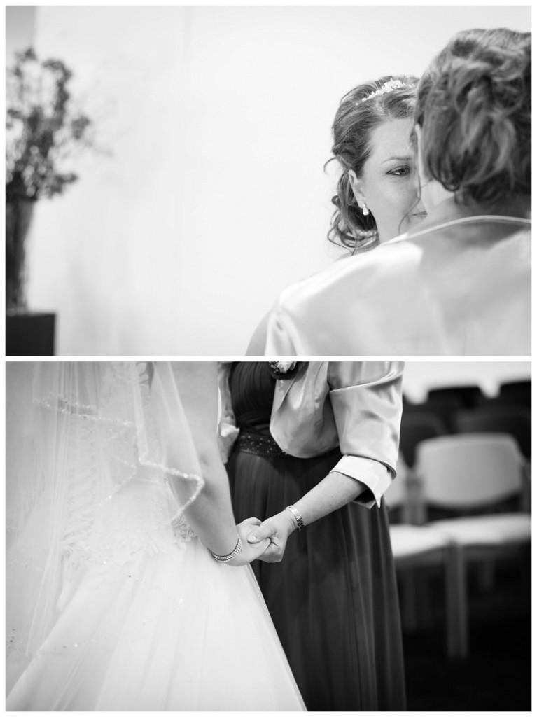 huwelijksfotograaf, bruiloft, gemeentehuis putten, moeder, bruid, trouw, ceremonie